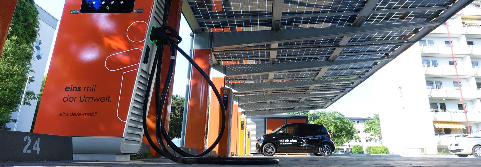 Solar Carports für den öffentlichen Raum